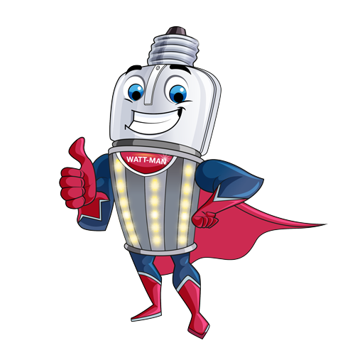 Wattman Superhero Illustration